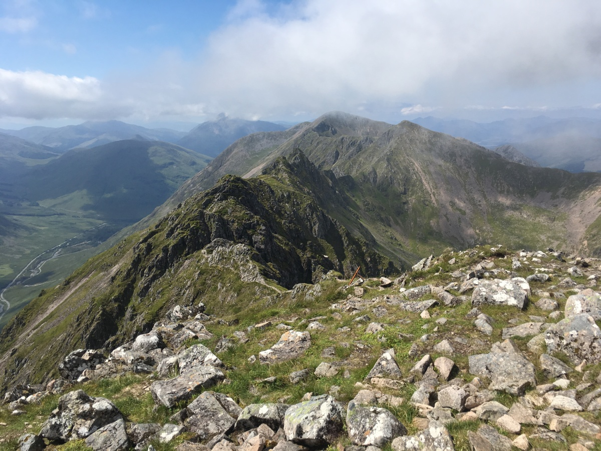 Munro with cancer #120 and #121 – Aonach Eagach